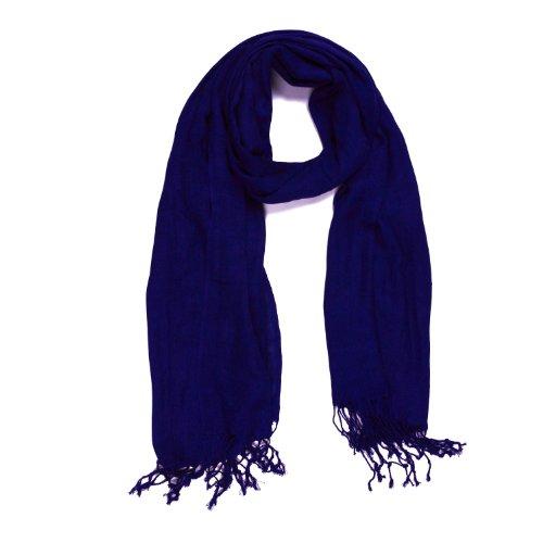 DonDon weicher und großer Schal - Blau