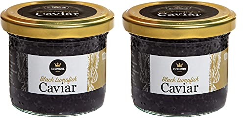 Elsinore Black Lumpfish Caviar (2 x 100g)