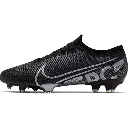 Nike Mercurial Vapor 13 Pro Firm Ground Cleats (6.5 M US, Black/Cool Grey)