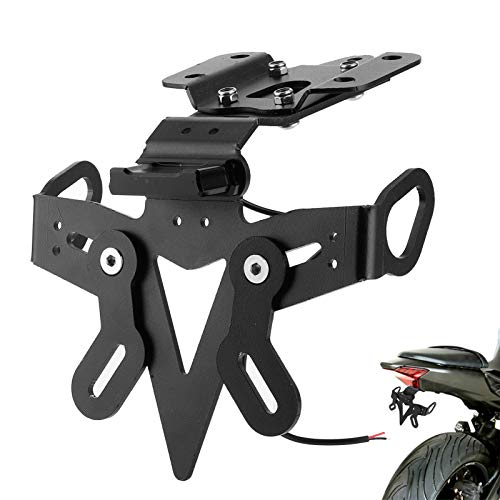Kit eliminador de guardabarros con soporte para placa de matrícula de motocicleta con ajuste LED para Ya-maha MT-07 FZ-07 2013-2020