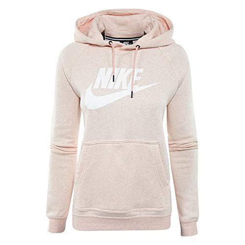 Nike Sportswear Rally Women's Fleece Hoodie (Storm Pink/White, Large)