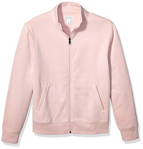 Amazon Essentials Men's Full-Zip Fleece Mock Neck Sweatshirt, Pink, X-Large