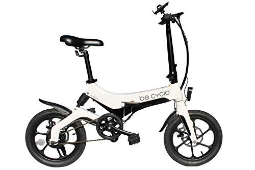 Be Cyclo E-Bike One Bici elettrica Pieghevole in Lega di magnesio - Peso 17 kg - Batteria LG al Litio - Ammortizzatore Posteriore e Freni a Disco