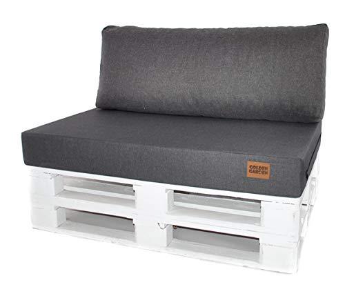 Mayaadi Home Palettenkissen Palettenpolster Palettenauflage Rückenkissen Indoor Outdoor MH-GD04 Grau 120x40x10-20cm