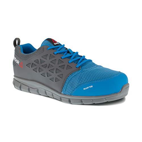 REEBOK WORK IB1038S1P Excel Light Athletic Safety Sneaker Schuh Aluminium Toe PR Arbeitsschuh 46 blau/grau