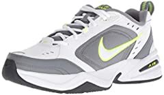 MEN'S LEATHER SNEAKERS: Leather upper features overlays for support and perforations for airflow. COMFORTABLE TRAINING: Foam Phylon midsole and full-length encapsulated Air-Sole unit cushions for comfort and support. NATURAL MOTION: Solid rubber outs...