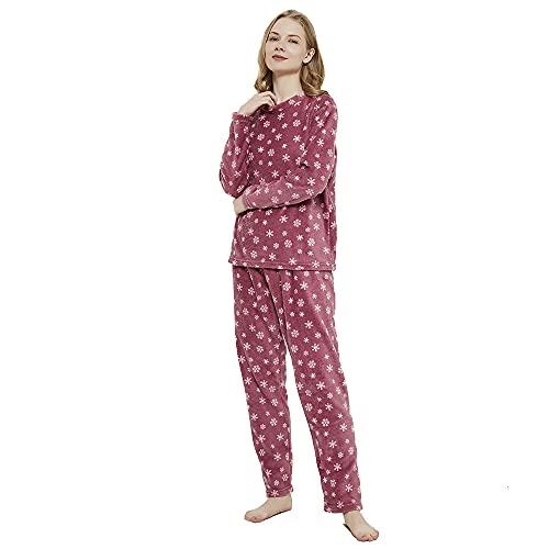 PimpamTex – Pijama Coralina de Mujer Otoño-Invierno de Manga Larga Polar Calentito con Tacto...