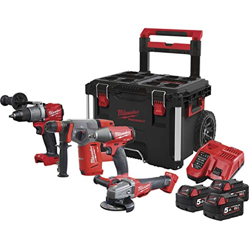 Milwaukee 4933471148 M 18 FPP4A-503P-Batería de Ion de Litio, 5 Ah, 18 V
