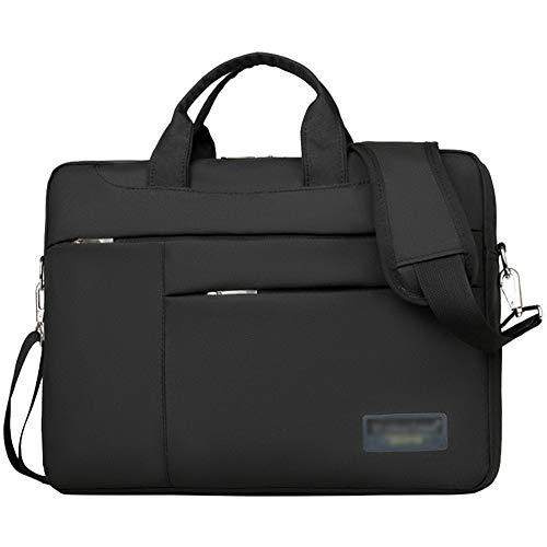 Soft Oxford Cloth Shockproof Laptop Computer Case Sleeve Shoulder Messenger Bag Briefcase with Pockets Handles and Detachable Shoulder Strap,Black,13' (36 * 26 * 7) CM