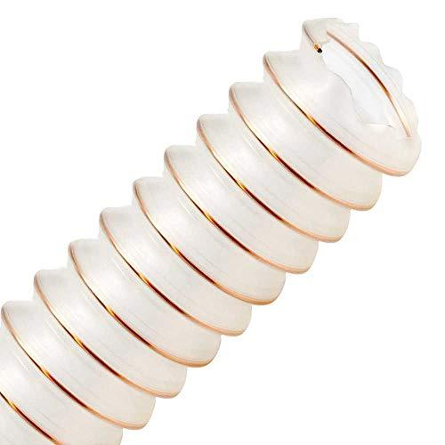 PURTON-SL 50mm (2 Zoll), Meterware - Superleichter Absaugschlauch für Absauganlage, antistatisch + schwerentflammbar Holz BG