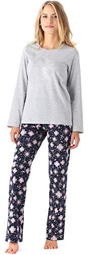 Merry Style Mädchen Jugend Schlafanzug MS10-229 (Melange Blumen, 164)