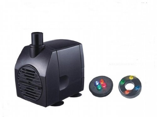 Jebao Water Pump With 4 LED RGBY Underwater Light Ring Combo 90GPH