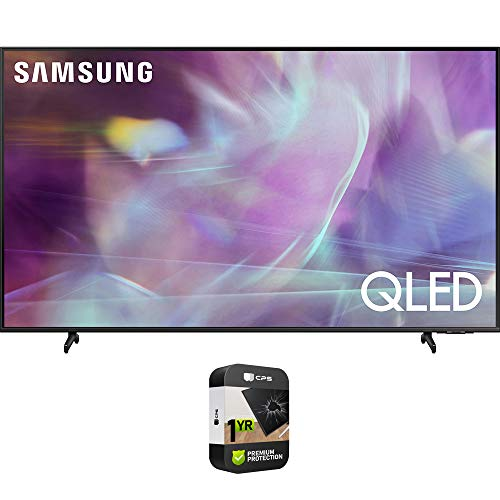 Samsung QN75Q60AAFXZA 75 Inch QLED 4K UHD Smart TV 2021 Bundle with Premium 1 Year Extended Protection Plan