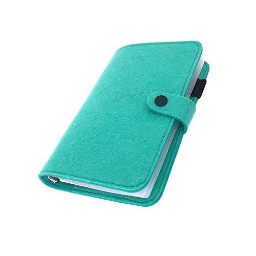 手帳 バインダー紐 システム カバー6穴 フェルト マテリアルシステムハンドブックビジネス学生6リングA5 A6ペンカード入れ, Blue 20, A6 combo