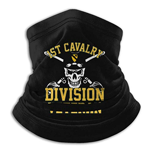 US Army 1st Cavalry Division Veteran Face Mask Bandana Outdoor Dust-Proof Adjustable Earloop Facial Decorations for SizeM