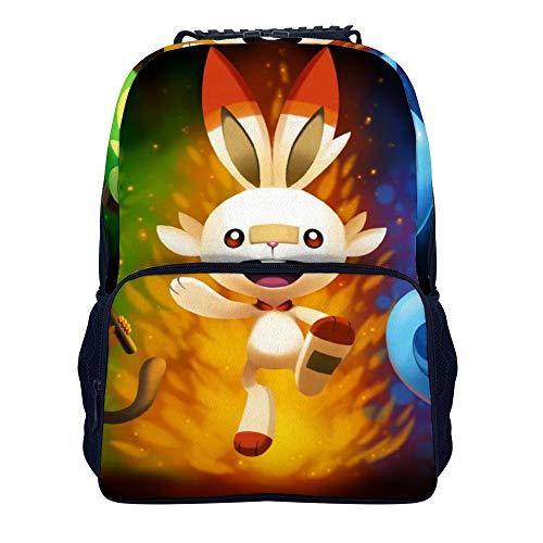 Mochila escolar Pokemon Sword and Shield 2 mochila casual de viaje de negocios 15.7 pulgadas para…
