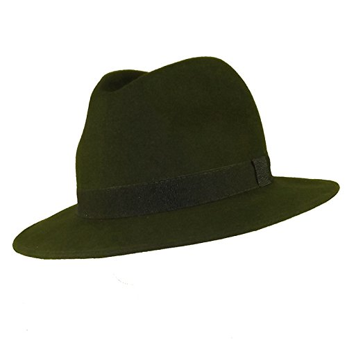 Chapeau-tendance - Chapeau Borsalino Vert Bogart - 55 - Homme