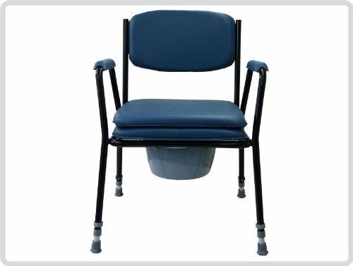 Premium Toilettenstuhl feststehend in der Farbe: Blau *Top-Qualität zum Top-Preis*
