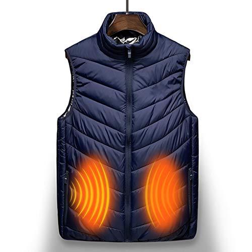 RHSMP Verwarmd vest, oplaadbare USB-verwarming, bodywarmer, lichte bodywarmer, snelle verwarming voor winter skiën wandelen motorfiets