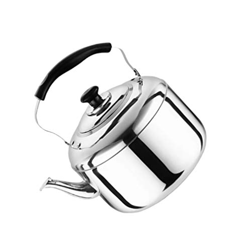 DOITOOL 5. 5L Tea Kettle Stovetop Tea Pot Stovetop Whistling Tea Kettle Stainless Steel Hot Water Teapot Heating Water Container with Handle for Home Gas Stovetop