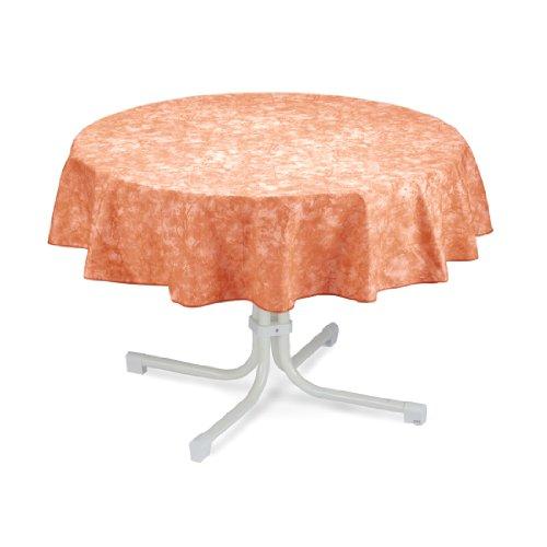 BEST 09810694 Nappe de Table Ronde Terracotta 130 cm