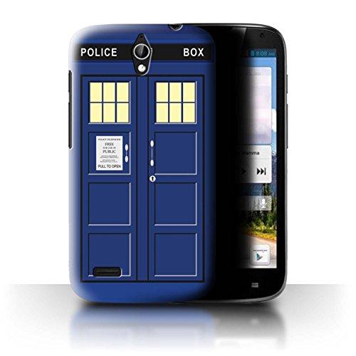 Hülle Für Huawei Ascend G610 Tardis Handyzelle Kunst Blau Design Transparent Ultra Dünn Klar Hart Schutz Handyhülle Hülle