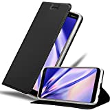 Cadorabo Hülle für Nokia 7 Plus in Classy SCHWARZ - Handyhülle mit Magnetverschluss, Standfunktion & Kartenfach - Hülle Cover Schutzhülle Etui Tasche Book Klapp Style