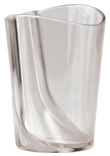 クオリーコップ歯磨きスタンドホルダー歯みがき歯ブラシ立てプラスチックうがいフリップカップクリア5217018CL