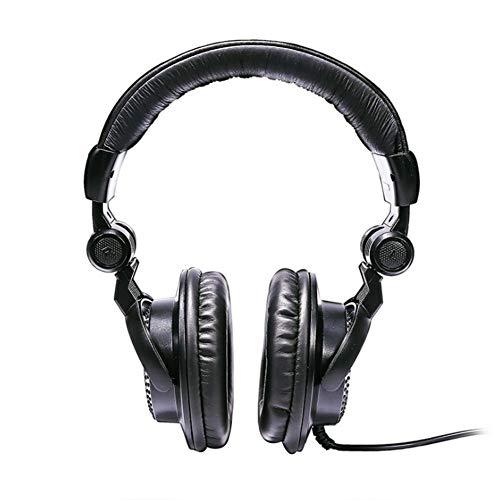 XHN Auriculares para Juegos con micrófono para PC PS4, Sonido estéreo de 3.5 mm + 6.3 mm, diseño ergonómico, Orejeras con Memoria Suave, micrófono con cancelación de Ruido sobre Auriculares con auri