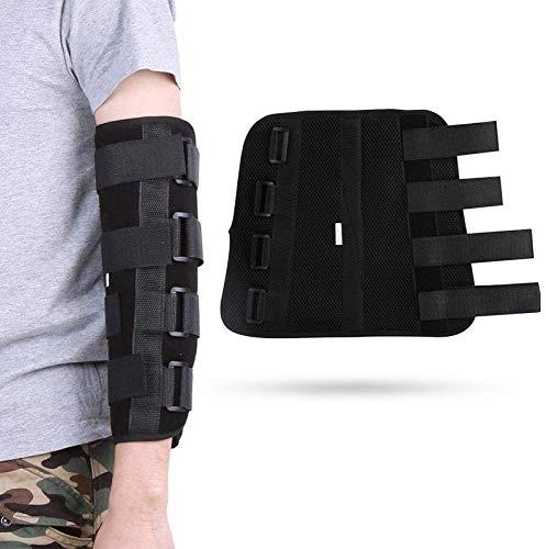 HJWL Ellenbogenstütze Ellenbogenbandage, Klapp Winkelstück Unterarm Hosenträger Unterstützung Schiene Orthese Band Pad Gürtel Verstellbare Wegfahrsperre Strap Wrap (1,L)