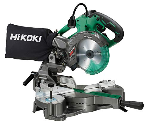 HiKOKI(ハイコーキ) 旧日立工機 コードレス卓上スライド丸のこ 36V マルチボルト 軽量タイプ 刃径165mm 左傾斜 最大六寸(182mm)切断 レーザーマーカー・LEDライト 畜電池・急速充電器・チップソー付 C3606DRA(XP)
