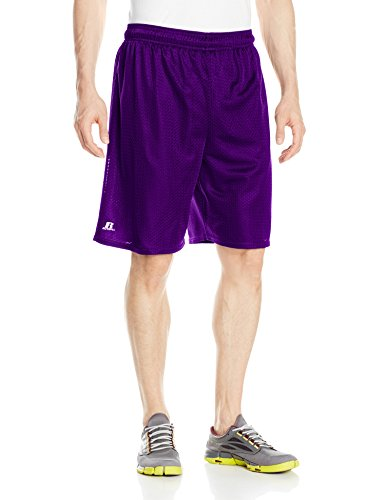 Russell Athletic Men's Mesh Shorts (No Pockets), Purple, X-Large
