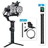 FeiyuTech Feiyu AK2000 3-Axis Handheld Gimbal Stabilizer with LCD Touch Panel Compatible with Canon/Panasonic/Sony/Nikon Cameras, 12H Runtime, MAX Payload 2.8KG, M4 Kernel MCU, WiFi Bluetooth Dual Mod