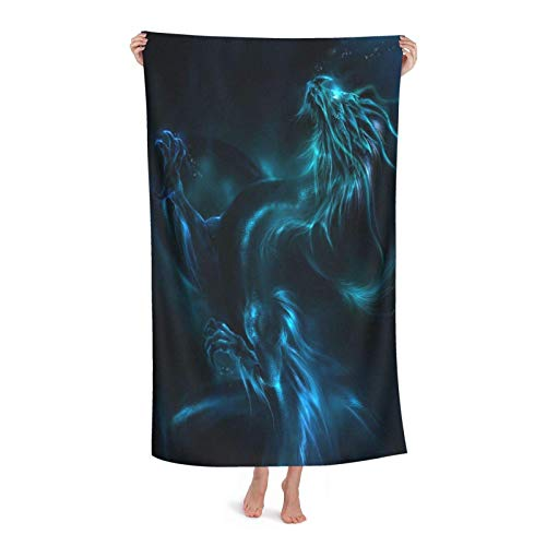 Towels Dragón De Luz Toallas De Gimnasio Plush Toallas De Baño Secado Rápido Toallas De Piscina por Mujer Piscina SPA 80X130 Cm