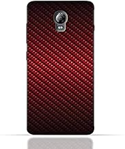 Lenovo Vibe P1 TPU Silicone Case With Red Fiber Pattern Design