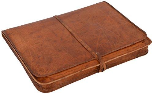 Laptoptasche-17 Notebooktasche Lederhülle Vintage Braun Leder