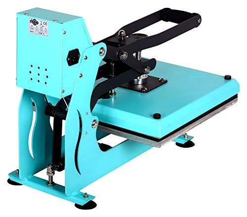 RICOO T438M-TB Transferpresse mit Öffnungsautmatik Textilpresse Textildruckpresse Klappbar Thermopresse Transferdruck Bügelpresse Textil T-Shirtpresse Sublimationspresse/Türkis-Blau - 2