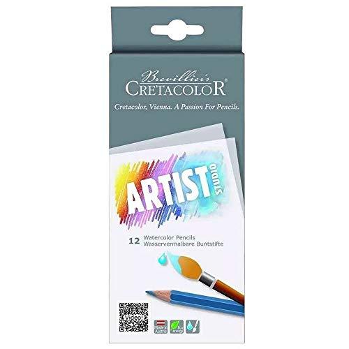 Cretacolor 12 lápices de colores acuarelables.