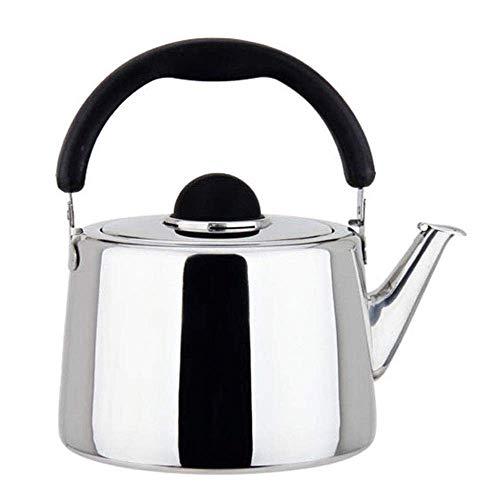 Riyyow Kettle de inducción SHItling Tea Tetera Tetera Hogar Picnic al Aire Libre Pot 304 Acero Inoxidable (Size : 5L)
