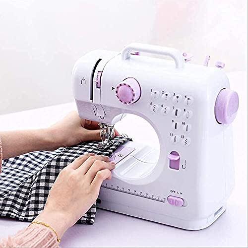 Máquina de coser LTQ Vapor con 12 puntadas multifuncional máquina de coser eléctrica portátil doméstica con pedal de pie para aficionados principiantes bordado rosa seguridad