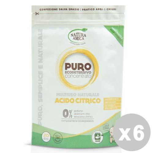 Natuur AMICA Set 6 NATUUR AMICA citroenzuur veelzijdig 250 g - geschikt voor de vaatwasser