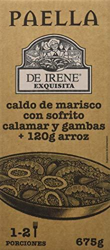 De Irene Paellas y Fideuas, Plato envasado de Paella, Arroz y Marisco - 6 unidades, 12 Raciones, Total 4050 gr.