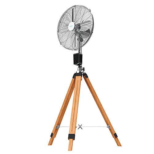 Cecotec Ventilador Trípode EnergySilence 1600 Woody Smart. 50W, 4 aspas de 16 Pulgadas, 40 cm diámetro, Motor de Cobre, 3 Velocidades, Altura Ajustable 130 cm, Oscilación hasta 80º, Mando a Di