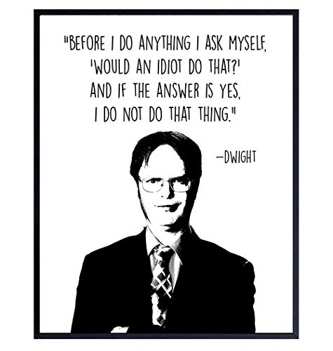 The Office Merch - Dwight Schrute Poster - Office Wall Art - Typography Home Decor for Bedroom, Living Room, Apartment, Dorm - Funny Quote -Decorations for Men, Women, Teens - 8x10 Picture Print