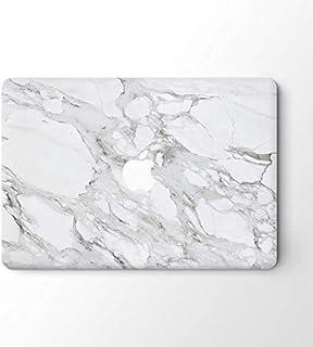 Macbook Retina 13 Top Skin Vinyl Sticker Cover Laptop Skin Decal-grey White Marble