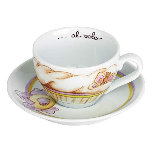 THUN Caffe' al Volo Tazza Cappuccino Cupcake, Ceramica, Variopinto
