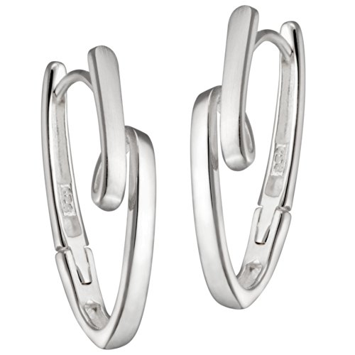 Vinani Klapp-Creolen Schlaufe U-Form Sterling Silber 925 Ohrringe CKN