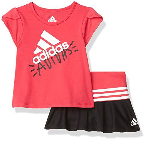 adidas Baby Girls Li'l Sport Top & Skort Clothing Set, Pink, 6 Months