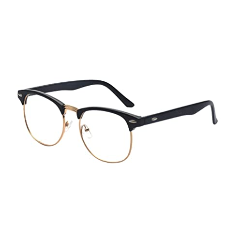 40d5a70b03 Outray Vintage Classic Half Frame Semi-Rimless Clear Lens Glasses