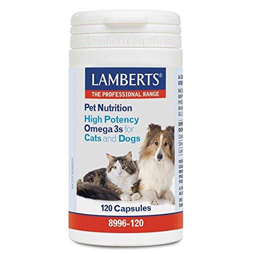 Lamberts 8996-120 Pet nutrition (omega 3 alta potencia para gatos y perros) - 120 Cápsulas